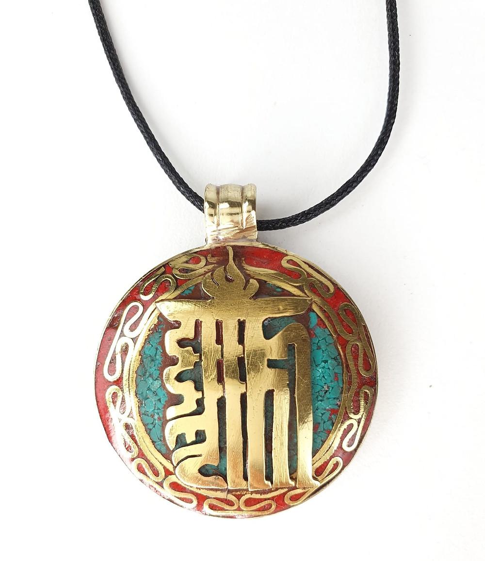 Ciondolo con simbolo del Kalachakra