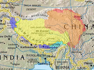 Dove si trova il Tibet?
