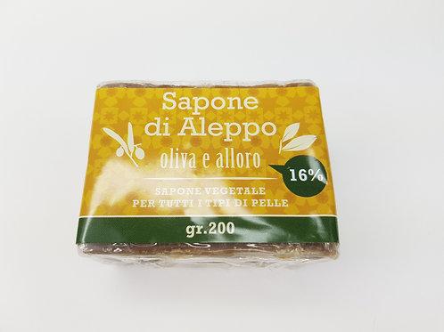 Sapone di Aleppo Olio di Alloro 16% e Olio di Oliva 84%