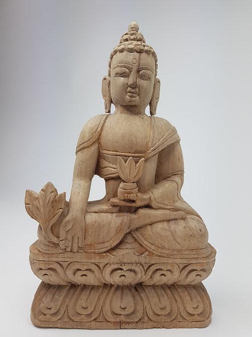 Statua fatta a mano legno 32cm