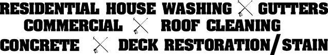 Hook N Ladder Pressure Washing services list