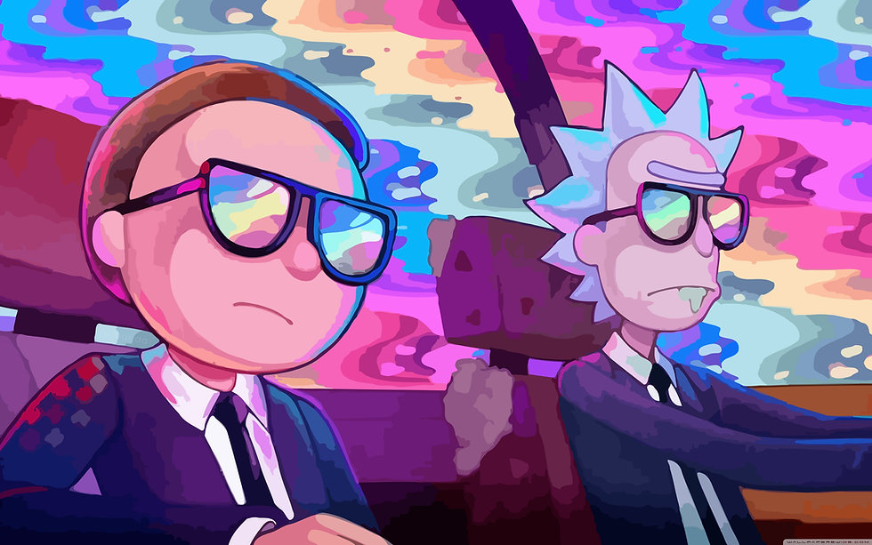 rick_and_morty_car_rainbow-wallpaper-384