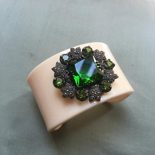 Pulseira broche verde
