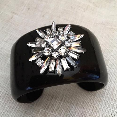 Bracelete negro cristais