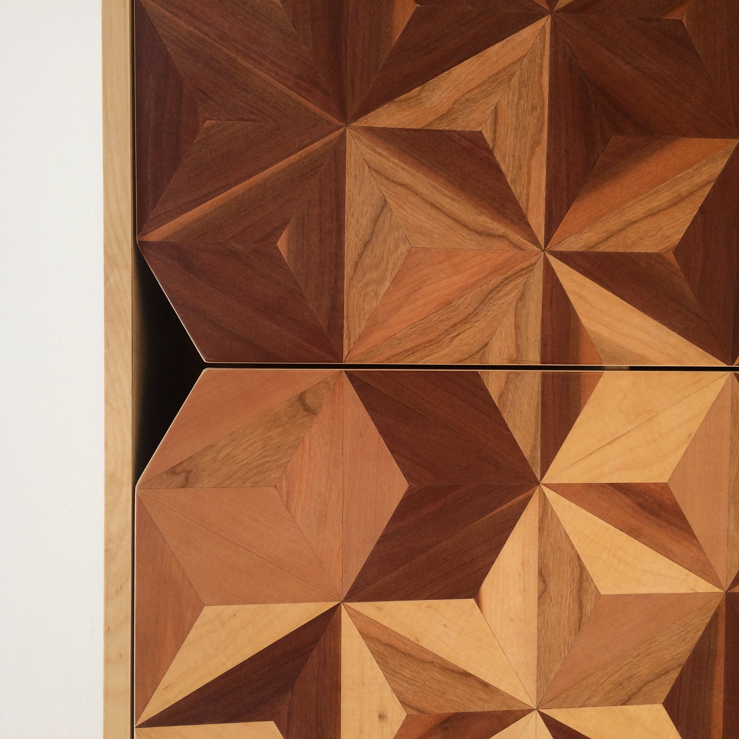 Geometric inlay doors