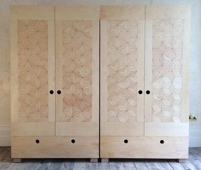 Geometric wardrobes - bespoke furniture