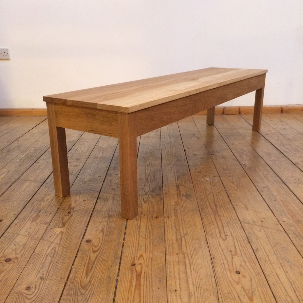 Hand crafted solid oak bench