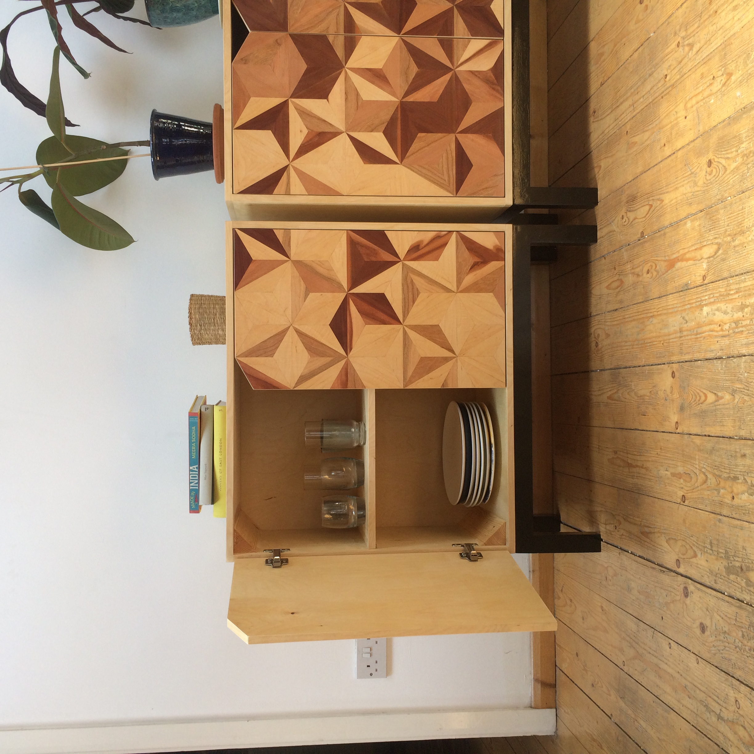 Marquetry cabinets