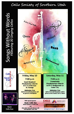 Songs Without Words CSSU 2019 Poster cop