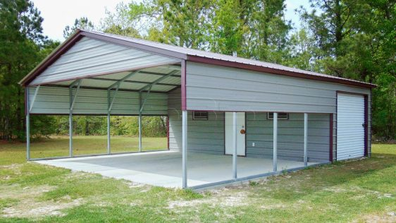 13 20x31 Metal Combo Carport Unit SBS