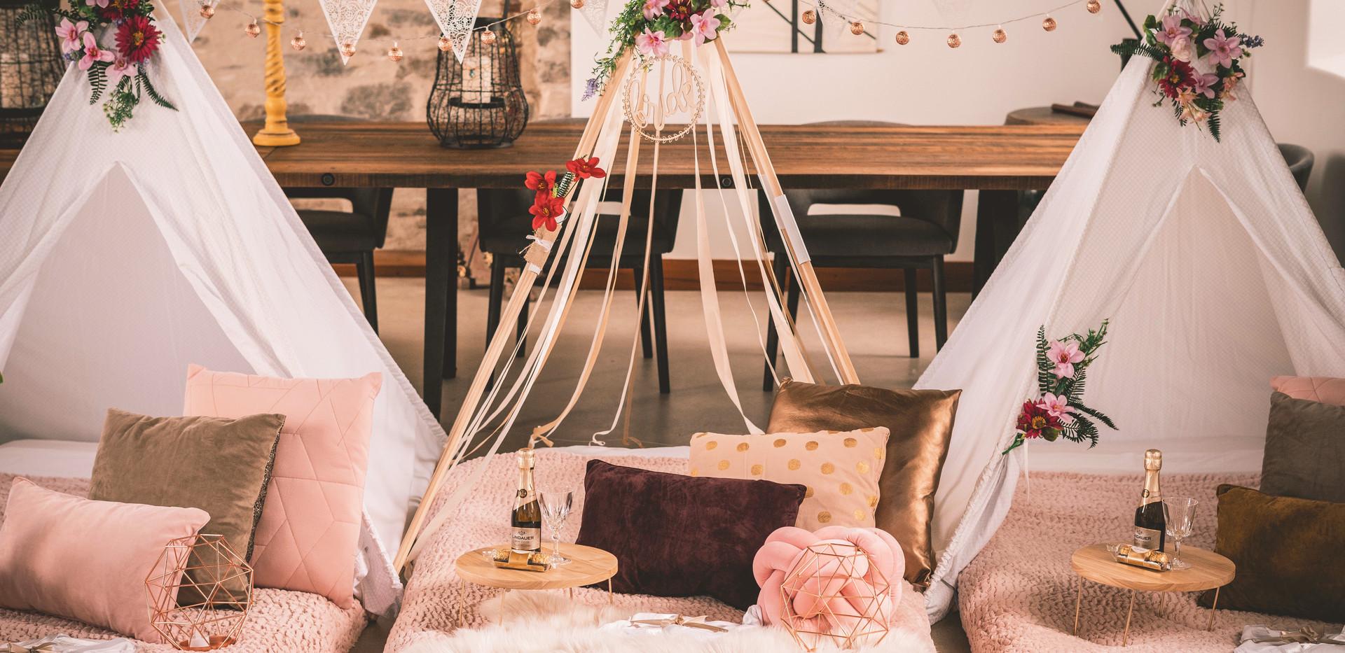 Bridal Glamping Sleepover