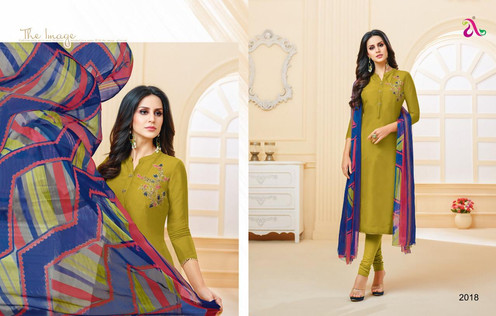 1bfbcf5696 Angroop Plus Dairy Milk Vol 26 Chanderi Cotton Unstiched Salwar Suits  Collection
