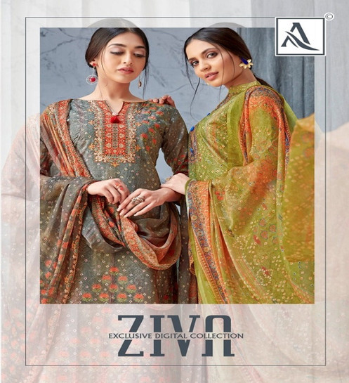 36d96a0e5f Alok Suit Ziva Cambric Cotton Unstiched Salwar Suits Collection Wholesale  Surat