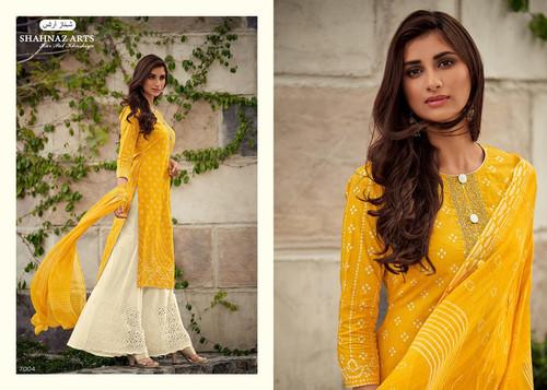 b331cabd57 Shahnaz Arts Siyahi Pure Cotton Straight Salwar Kameez Collection Wholesale