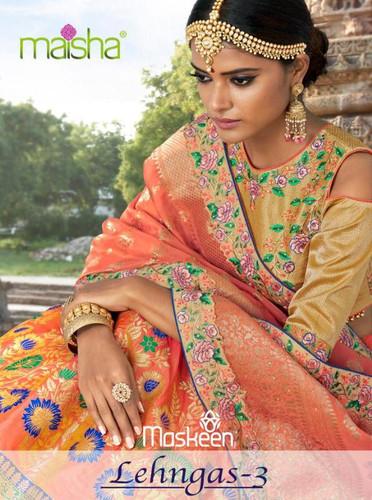 b562dcb177 Maisha Lehangas vol 3 Banarasi Designer wedding Lehanga Collection Wholesale