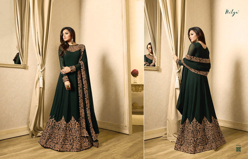 6e43088ecbc Lt nitya vol 117 1701-1710 Series Fancy Party Wear Suits Collection