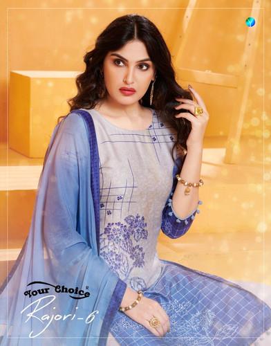 559f2ee26c Your choice Rajori vol 6 cotton Sarara Style Salwar suits Collection  Wholesale
