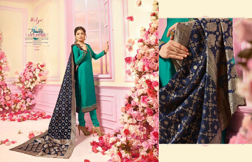 cb5670cd48 Lt Nitya vol 121 2101-2107 series fancy designer Banarasi Dupatta suits