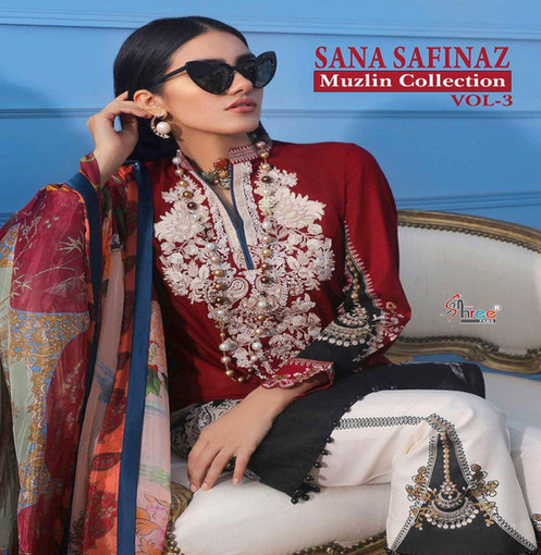 8dc0c37f8f Shree Fabs Sana Safinaz Muslin Collection Vol 3 Pakistani Salwar Kameez