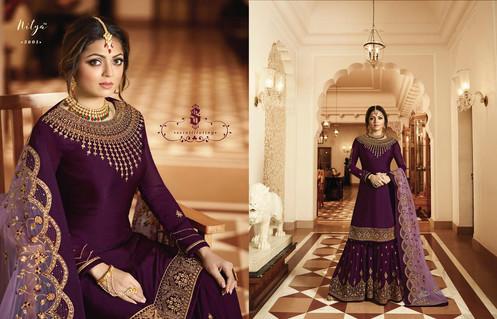 41206c98aa Lt Nitya Vol 136 3601-3609 Series Designer Heavy Partywear Sarara Suits