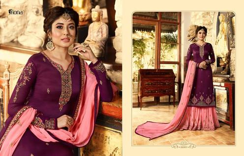 28878b9317 Fiona Kritika Sharara Vol 6 Georgette Bridal Sarara Suits Collection|  Rehmat Boutique