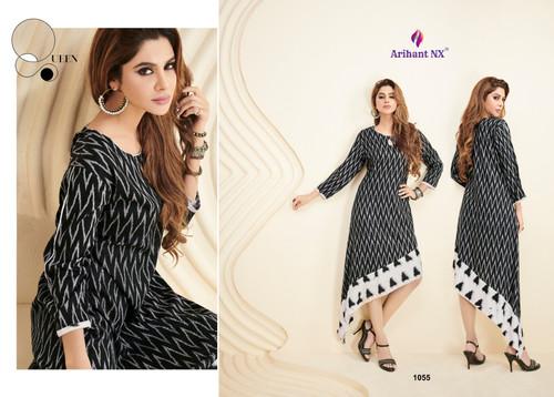2c2878c343 Arihant Nx Palchu Designer Heavy Rayon Long Kurti Collection Wholesale Surat