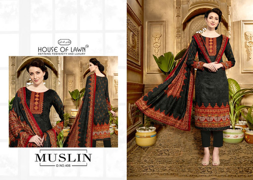 3e58b1a6fa House Of Lawn Muslin Vol 4 By Mumtaz Arts Salwar Suits Collection