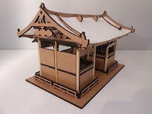 maquete templo japonês