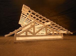maquete para colecionar - modelos de telhado - compre já