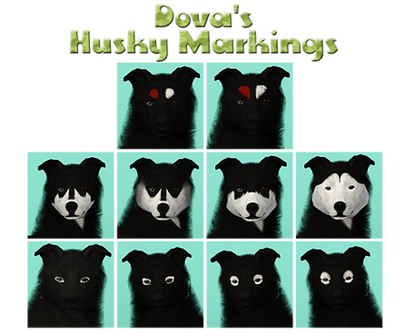 Sims3 Dog Cc Database Husky Face Markings By Dovahkiin Kennels