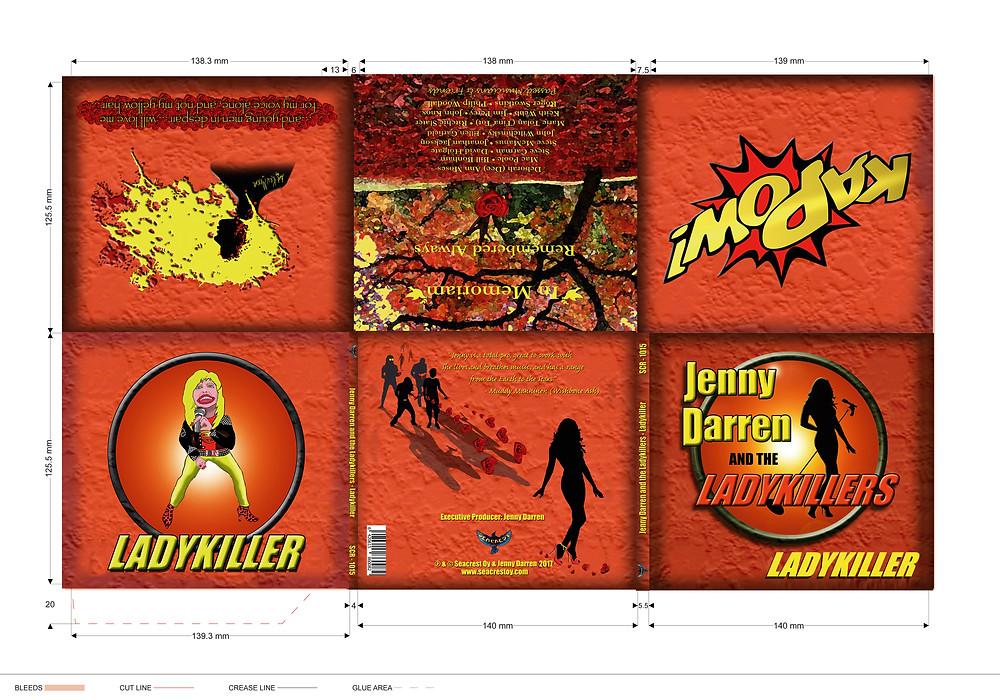 JennY Darren & The Ladykillers Digi Pack Layout/Both Sides