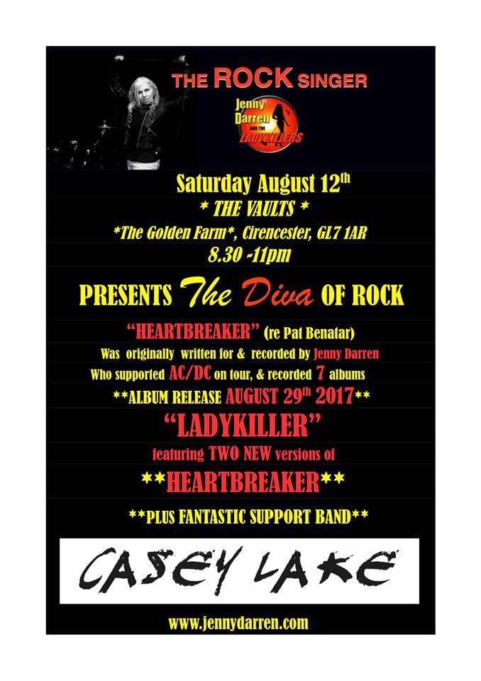 The gig poster; Featuring Casey Lake;