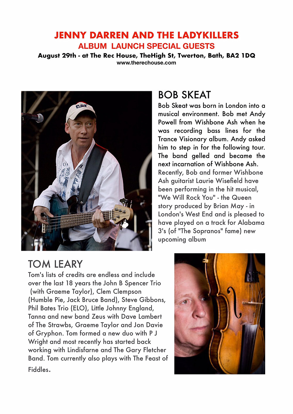 Bob Skeat & Tom Leary