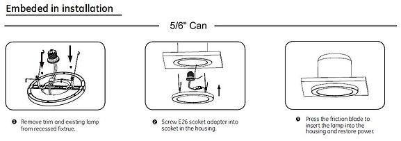 Flush mount ebedded 5_7_9_12_14in Panle