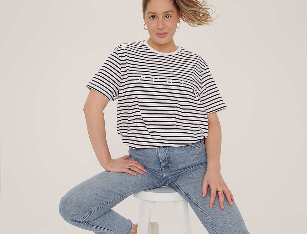 CLASSIC STRIPED T-SHIRT NAVY & WHITE