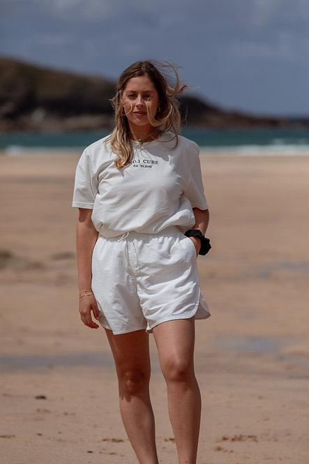 Roman Est T-Shirt - Off White // Navy