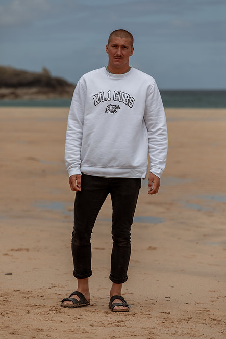 College Sweatshirt - White // Black