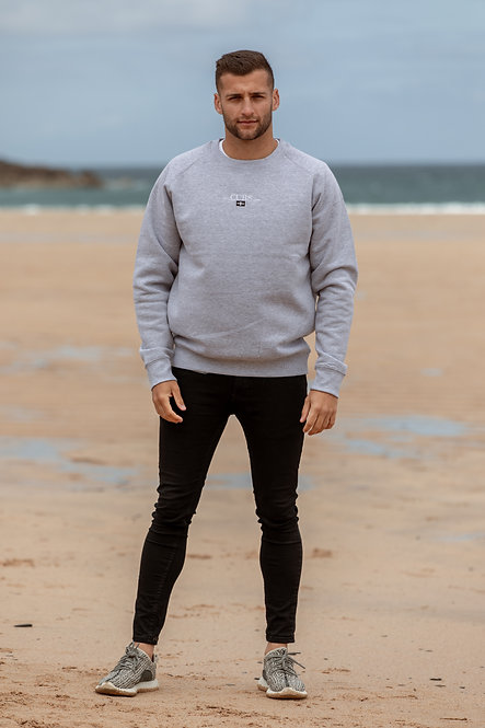 Kernow Sweatshirt - Grey // White