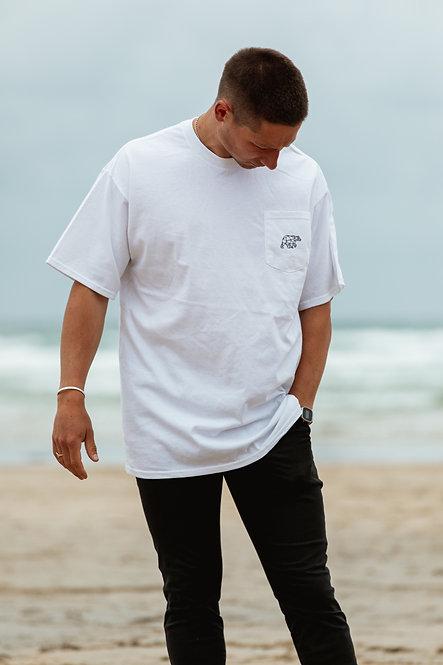 Polybear Pocket T-Shirt - White // Black