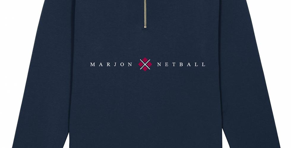 MARJON NETBALL QUARTER ZIP NAVY