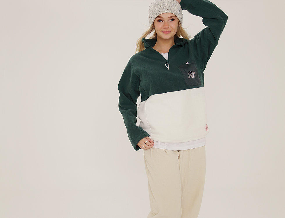 LIMITED EDITION GREEN / CREAM FLEECE