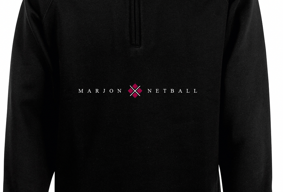 MARJON NETBALL QUARTER ZIP BLACK