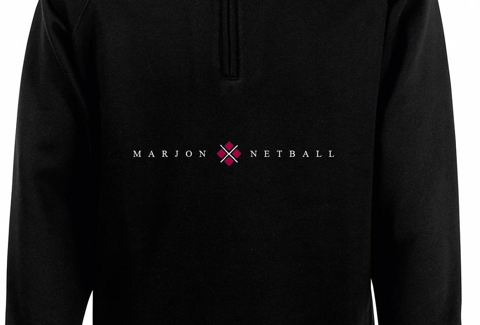 MARJON NETBALL QUARTER ZIP BLACK