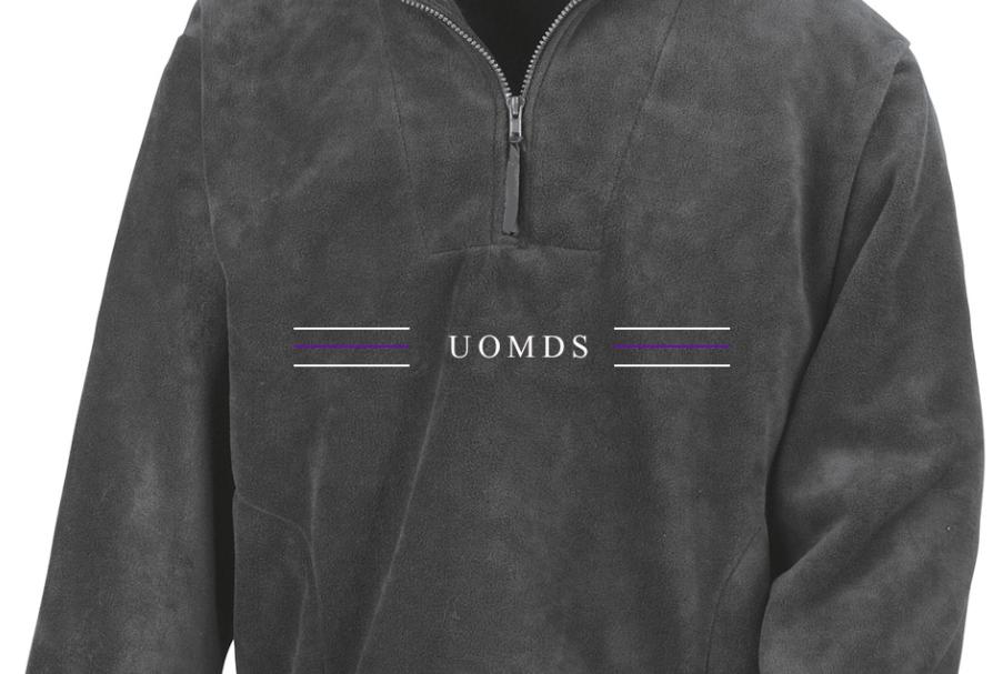 UOMDS Quarter Zip Fleece // Oxford Grey