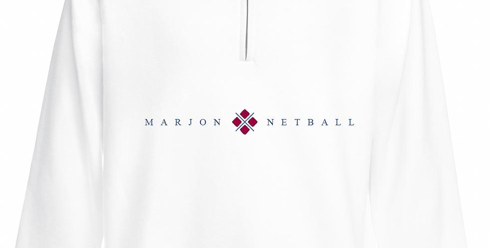 MARJON NETBALL QUARTER ZIP WHITE