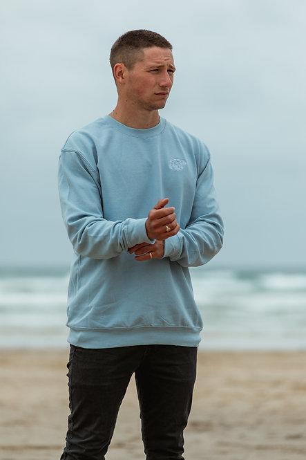 Polybear Sweatshirt - Sky Blue // White