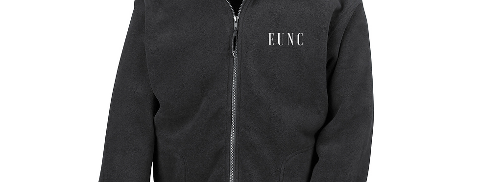 EUNC BLACK FULL ZIP FLEECE