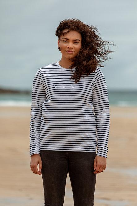 L/S Classic Stripe T-Shirt - Navy // White