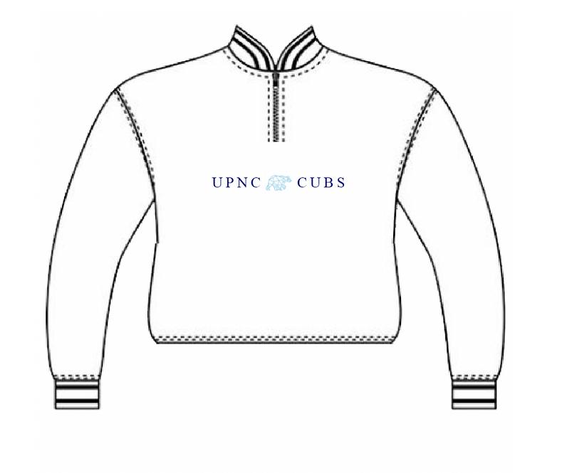 WHITE CROPPED UPNC QUARTER ZIP