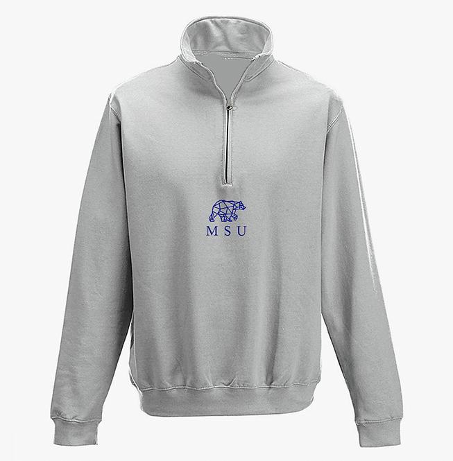 MSU x CUBS Quarter Zip - Grey